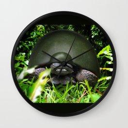 Slow Commando - Army Turtle Wall Clock