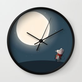Little Mouse - Full Moon Wall Clock