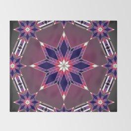Morning Star Circle (Purple) Throw Blanket
