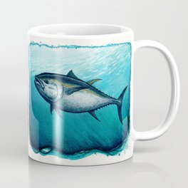 Bluefin Tuna ~ Watercolor Painting by Amber Marine,(Copyright 2016) Coffee Mug