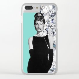 Ezra Golightly Collage Clear iPhone Case