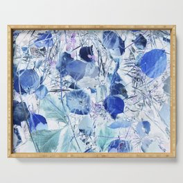 Blue leaves Serving Tray