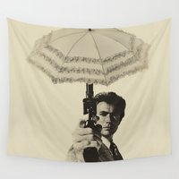 harry Wall Tapestries featuring D_r_y Harry by Robotic Ewe