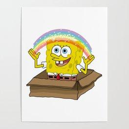 spongebob squarepants imagination Poster