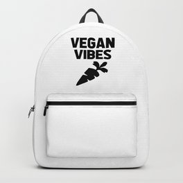 vegan vibes funny quote Backpack