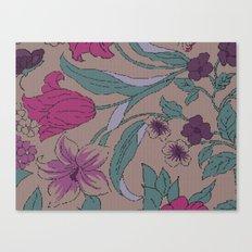 floral knit Canvas Print