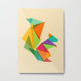 Fractal geometric Squirrel Metal Print