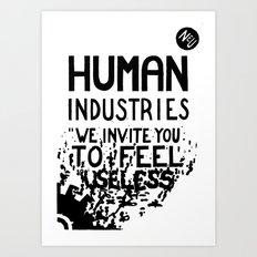 WHITEOUT: Human Industries ( HUM- 019) Art Print