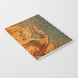 Lord Ganesh On a Distress Stone Background Notebook