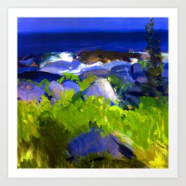 George Bellows Monhegan Island Art Print