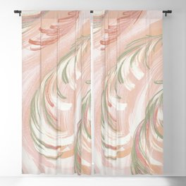 pastel coral swirl Blackout Curtain