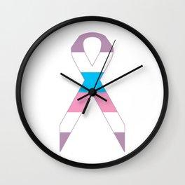 Intersex Ribbon v1 Wall Clock