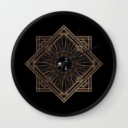Swan Vintage Art Deco Gold Ornament Wall Clock