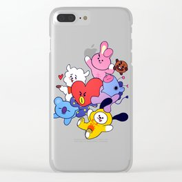 BT21 Crew Clear iPhone Case