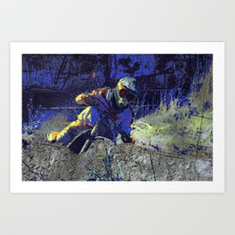 Trail Blazer Motocross Rider Art Print