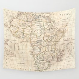 Vintage Map of Africa (1799) Wall Tapestry