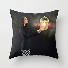 Self Discovery. Finding Inner Freedom. Throw Pillow