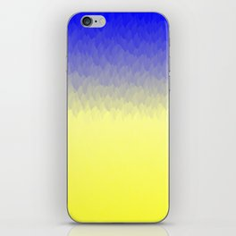 Sky and Sun -- Blue yellow ombre flames iPhone Skin