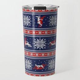 Christmas deer kamasutra Travel Mug