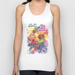 Rainy Day Sunflowers Unisex Tank Top