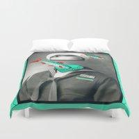marine Duvet Covers featuring Sardine marine by AmDuf