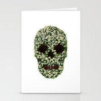 pushing daisies Stationery Cards featuring Pushing up Daisies by Luke Dwyer - Artist