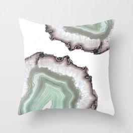 Light Water Agate Throw Pillow