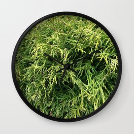 Combed Greens Wall Clock