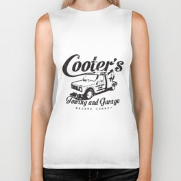 Cooter's Towing And Garage Dukes Funny Hazard County Mechanic T-Shirts Biker Tank