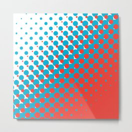 Blue and red halftone pattern Metal Print