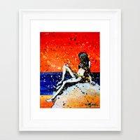 bikini Framed Art Prints featuring Bikini by Khryztof