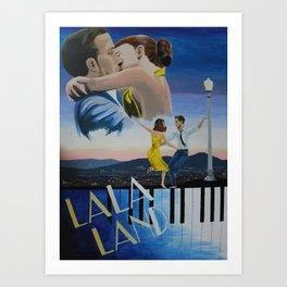 Vintage-Style La La Land Poster Art Print