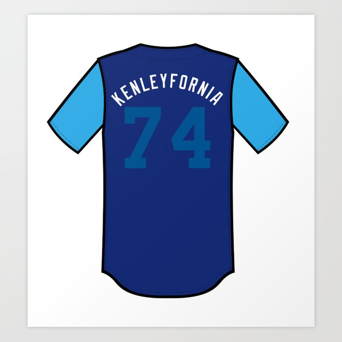 Kenley Jansen Players  Weekend Jersey Art Print by kmprints  5efd8cc9274