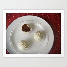 Gingerbread Cake Truffles Art Print