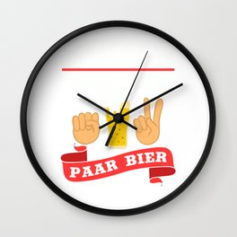 """A Beer Tee For Alcoholic """"Schere Stein Paar Bier"""" T-shirt Design Alcohol Partying Party Scissor Rock Wall Clock"""