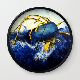 Whale vs Colossal Squid Wall Clock