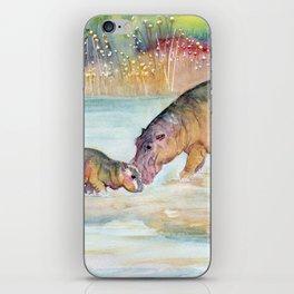 Hippopotamus iPhone Skin