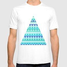 Winter Aztec Pattern White Mens Fitted Tee MEDIUM