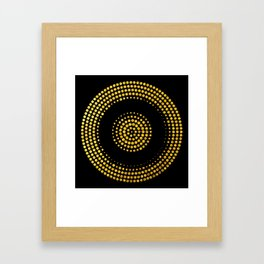 Abstract gold confetti Framed Art Print