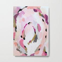 Lipstick Abstract Metal Print