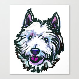 The Westie Dog Love of my Life Canvas Print