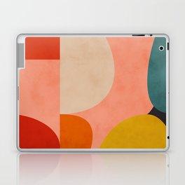 geometry shape mid century organic blush curry teal Laptop & iPad Skin