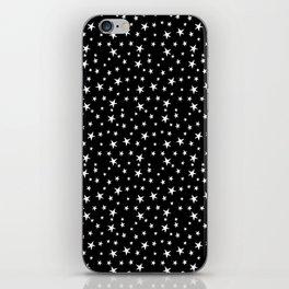 Mini Stars - White on Black iPhone Skin