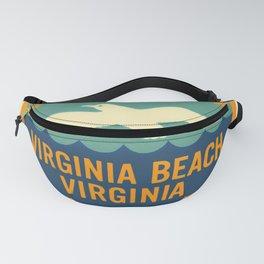 Seashore State Park Virginia Beach Camping Seagull Vintage Fanny Pack