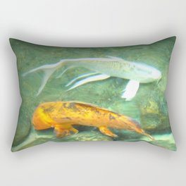 Coy Fish Rectangular Pillow