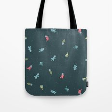 Space Cats! tiling pattern Tote Bag