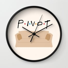 Pivot - Friends Tribute Wall Clock
