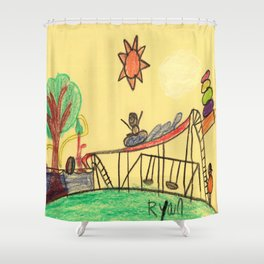 Water Play Park Shower Curtain