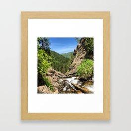 Mountain Drop Framed Art Print