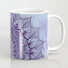 Doodle Peacock Purple Coffee Mug